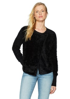 Michael Stars Women's Fluffy Knit Front-to-Back Sweater with Snap Closure  M