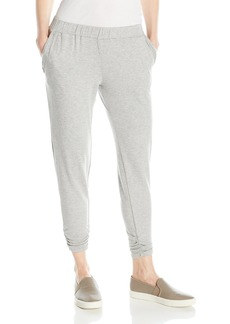 Michael Stars Women's French Terry Jogger Pant with Ruched Hem  M