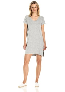 Michael Stars Women's French Terry Short Sleeve Sweatshirt Dress  L
