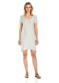 Michael Stars Women's French Terry Stripe Short Sleeve Sweatshirt Dress  XS