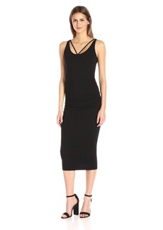 Michael Stars Women's Front to Back Midi Dress with Shirring  XL
