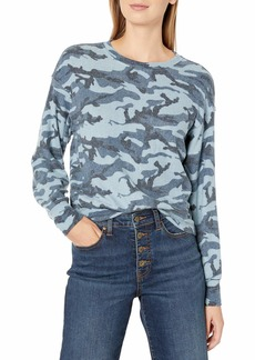 Michael Stars Women's Gigi Crew Neck Camo Pullover  Extra Small