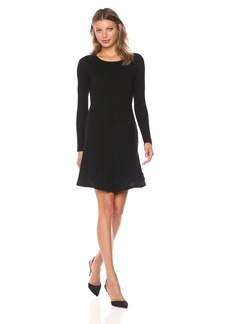 Michael Stars Women's Jasper Poorboy Crew Neck Long Sleeve Dress  XS