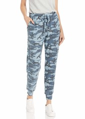 Michael Stars Women's Jenny Camo Print Pull on Pant with Drawstring  Extra Small
