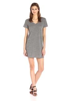 Michael Stars Women's Jersey Short Sleeve Dress With Pocket  M