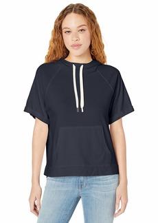 Michael Stars Women's Joy Ventura Jersey Half Sleeve Hoodie Sweatshirt