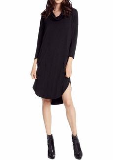 Michael Stars Women's Jules Jersey 3/4 Sleeve Cowl Neck Dress