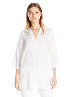 Michael Stars Women's Lightweight Linen Split Neck Tunic Dress