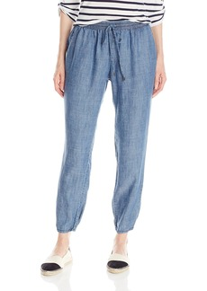 Michael Stars Women's Linen Denim Tencel Pants with Drawstring