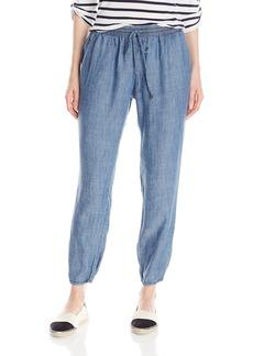 Michael Stars Women's Linen Denim Tencel Pants with Drawstring