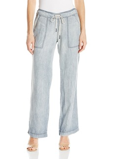 Michael Stars Women's Linen Denim Tencel Wide Leg Pant  S