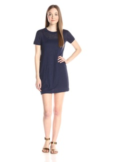 Michael Stars Women's Linen Knit Short Sleeve Tee Dress with Lining