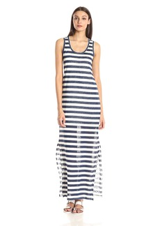 Michael Stars Women's Linen Knit Stripe Tank Maxi Dress