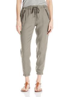 Michael Stars Women's Linen Pant With Zipper Pockets  M