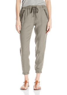 Michael Stars Women's Linen Pant With Zipper Pockets  S