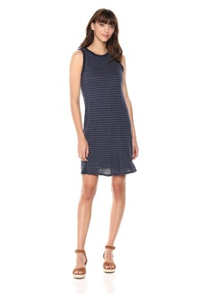 Michael Stars Women's Linen Stripe Ringer Tank Dress