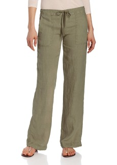Michael Stars Women's Linen Wide Leg Pant  L