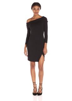 Michael Stars Women's Long Sleeve Off the Shoulder Dress  L