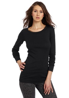Michael Stars Women's Longsleeve Raw Edge Crew Neck Tee