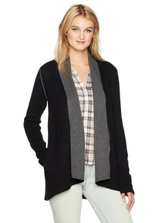 Michael Stars Women's Luxe Cotton Blend Reversible Shawl Collar Cardigan  XS