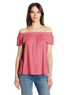Michael Stars Women's Luxe Slub Off The Shoulder Tee
