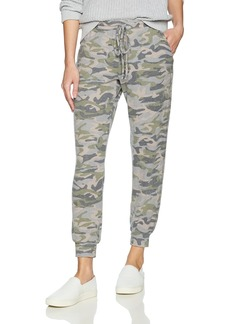Michael Stars Women's Madison Brushed Camo Pull on Pant with Drawstring  M
