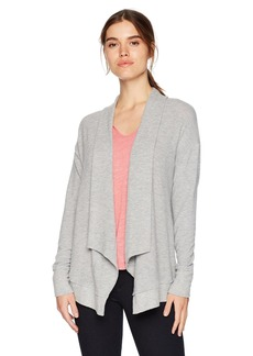 Michael Stars Women's Madison Brushed Jersey Long Sleeve Open Front Cardigan  L