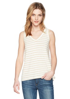 Michael Stars Women's Madison Brushed Stripe v-Neck Tank  M