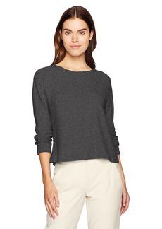 Michael Stars Women's Madison Brushed Sweater Rib Long Sleeve Boatneck Top  M