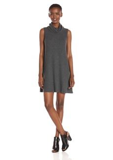 Michael Stars Women's Madison Brushed Sweater Rib Sleeveless Cowl Dress  L