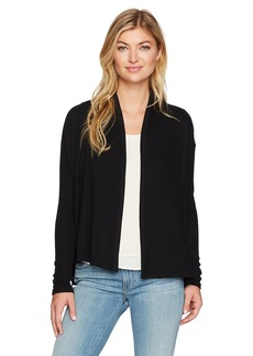 Michael Stars Women's Madison Brushed Sweaterrib Open Front Long Sleeve Cardigan  L