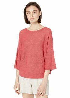 Michael Stars Women's Marla Linen Blend 3/4 Sleeve Pullover