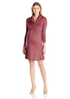 Michael Stars Women's Maternity Shine Cowl Neck Dress