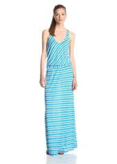 Michael Stars Women's Mercer Stripe Maxi Dress with Twist Back