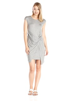 Michael Stars Women's Micro Modal Crew Neck Twist Front Dress