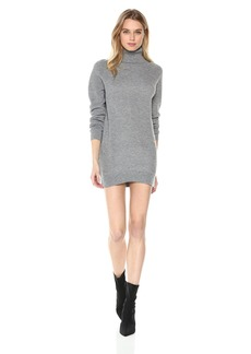 Michael Stars Women's Mixed Stitch Long Sleeve Cowl Neck Tunic Dress  L