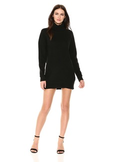 Michael Stars Women's Mixed Stitch Long Sleeve Cowl Neck Tunic Dress  M