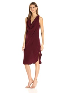 Michael Stars Women's Modern Rayon Draped Front Dress  S
