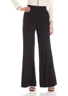 Michael Stars Women's Modern Rayon High Waisted Wide Leg Pant