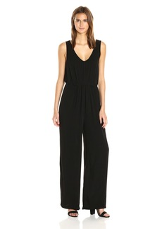 Michael Stars Women's Modern Rayon Jumpsuit with Drawstring Waist  XS