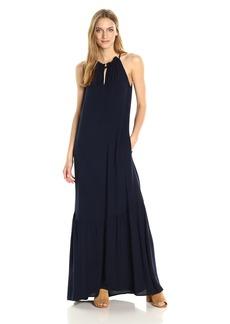 Michael Stars Women's Modern Rayon Maxi Dress with Pockets  M