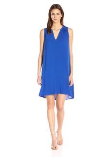 Michael Stars Women's Modern Rayon Sleeveless Vee Neck Dress  S