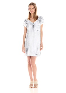 Michael Stars Women's Nautical Wash Short Sleeve Dress with Pocket  XS