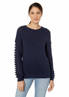 Michael Stars Women's Novelty Knits Long Sleeve Crew Neck Pullover