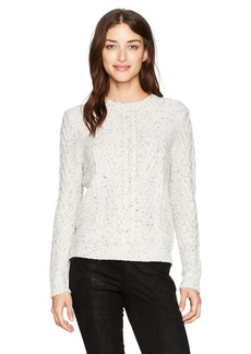 Michael Stars Women's Novelty Yarn Cable Crew Neck Pullover  XS