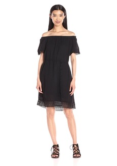 Michael Stars Women's Off-Shoulder Dress with Lace