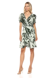 Michael Stars Women's Paradiso Print Wrap Dress
