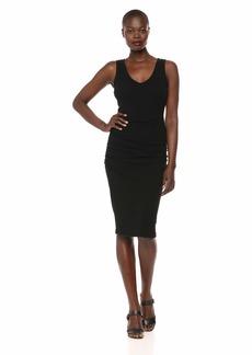 Michael Stars Women's Pebble Knit Cora Sleeveless Ruched Dress
