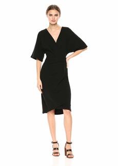 Michael Stars Women's Pebble Knit Pleat wrap Dress  Extra Small