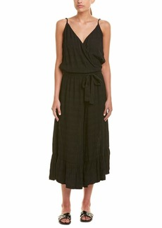 Michael Stars Women's Plisse Wide Leg Cropped Jumpsuit